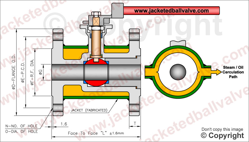 Full Jacketed Ball Valve Manufacturer, Exporter, Supplier, Stockist, Importer. Bitumen, Asphalt, Coal Tar Service Application Jacketed Valves Manufacturers