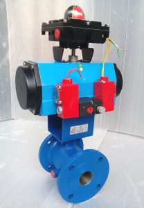 Pneumatic Actuator Operated Jacketed Ball Valve