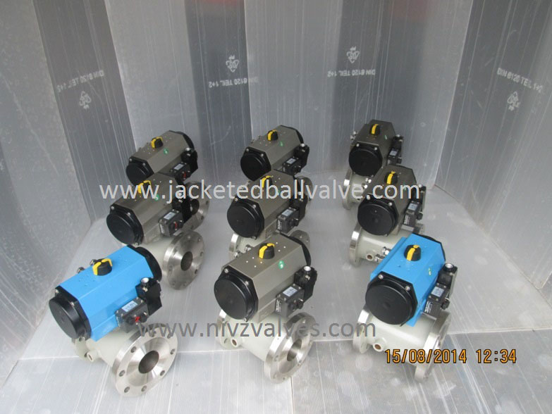 Electro Pneumatic Actuator Operated Jacketed Ball Valve