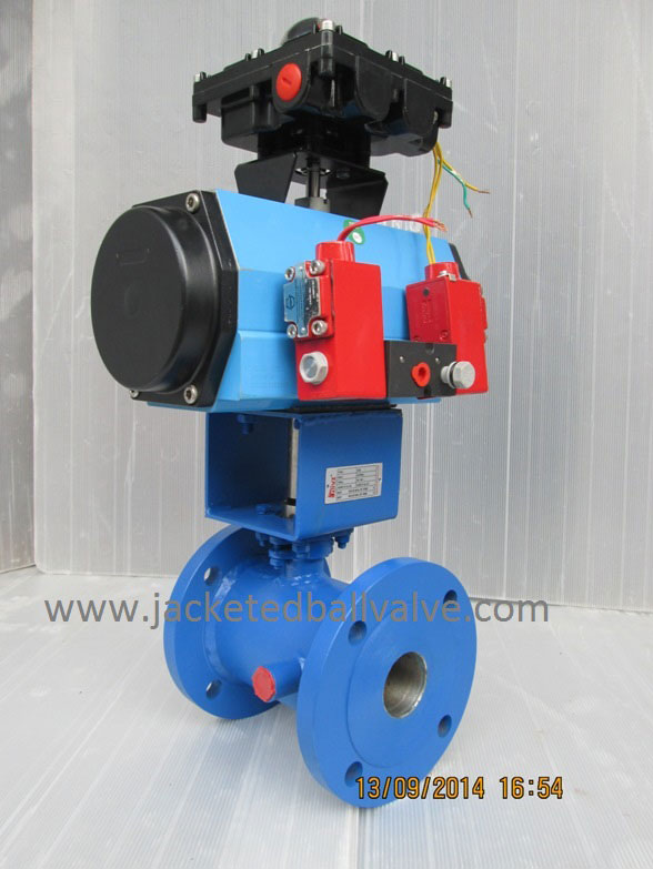 Fire Safe Design Pneumatic Operated Jacketed Ball Valve