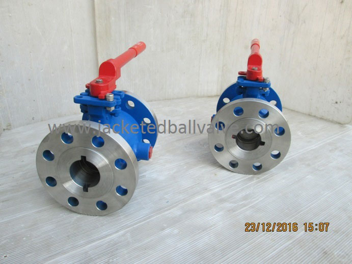 ISO 5211 Direct Mounting Pad Jacketed Ball Valve