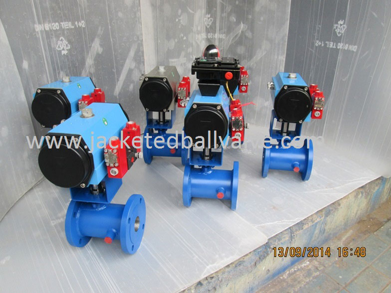 Jacketed Ball Control Valve