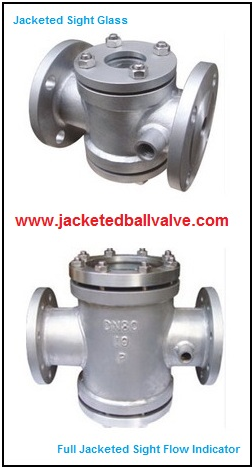 Jacketed Double Window Type Sight Glass Flow Indicator