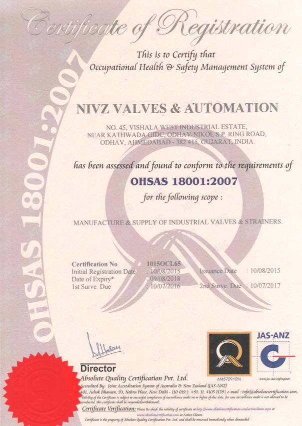 OHSAS 18001 : 2007 Certified Jacketed Valve Manufacturers, Stockist, Supplier, Importers, Stockist, Maintenance Free, Class One Quality Jacketed Valve