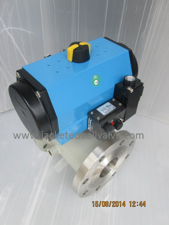 Pneumatic Operated Jacketed Ball Valve Manufacturers, Stockist, Supplier, Remote Operated Jacketed Valve, Fire Safe Design Jacketed Valve Importers