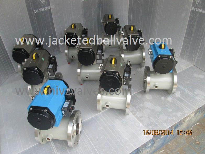 Pneumatic Operated Jacketed Ball Valve