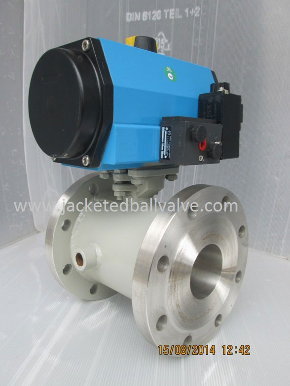 Power Air Failure Close Type Pneumatic Jacketed Ball Valve Exporters