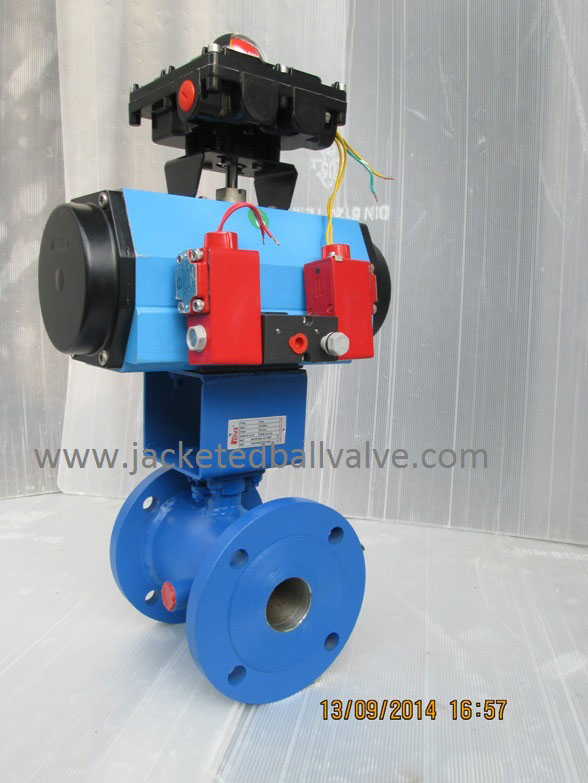 Stock and Yoke Type Actuator Operated Jacketed Valve