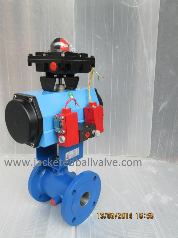 Three Stage Position Jacketed Ball Valve