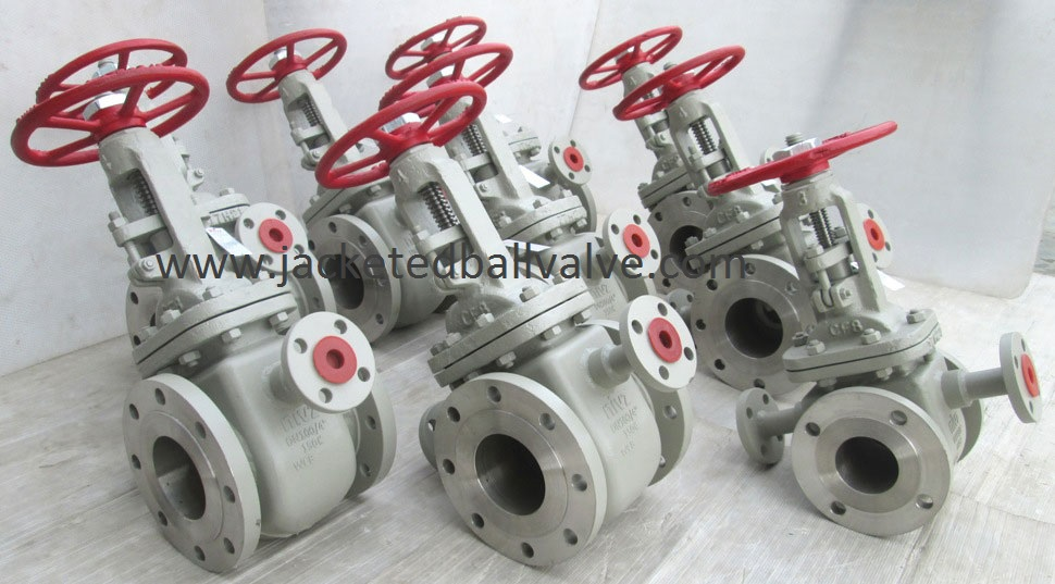 High Temperature Service Jacketed Gate Valve Available in ready stock